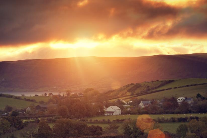 Glenariff al tramonto