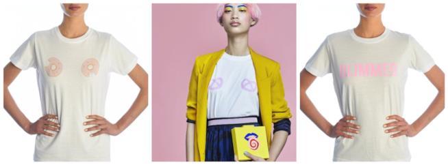 Stilizzate e dallo sfondo semplice bianco, le magliette di moda P/E 2018