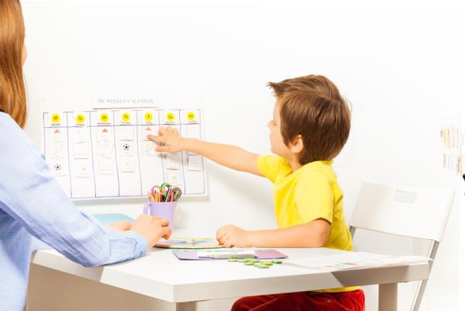 Calendario con bambini