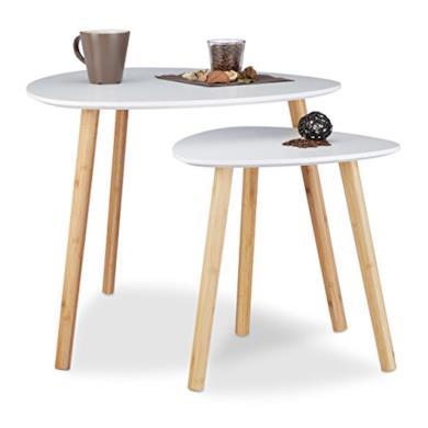 Set 2 Tavolini Sovrapponibili da Salotto