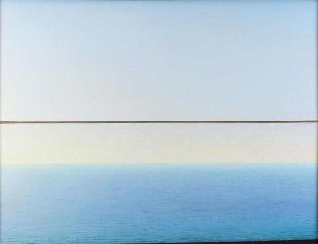 Mare a Punta Corvo (cat. 21) 1995-2000 olio su tela 86 x 113 cm Collezione privata