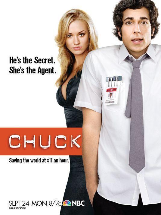 Il poster della prima stagione di Chuck