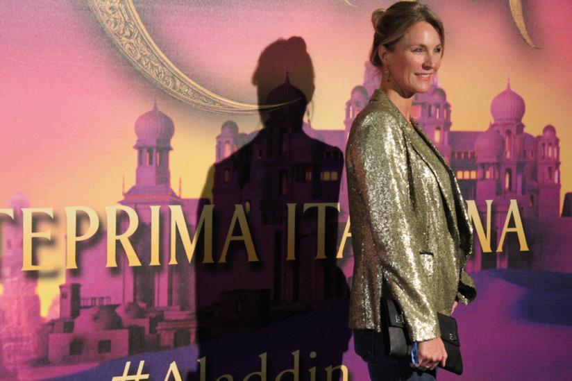 Ellen Hidding sul red carpet di Aladdin