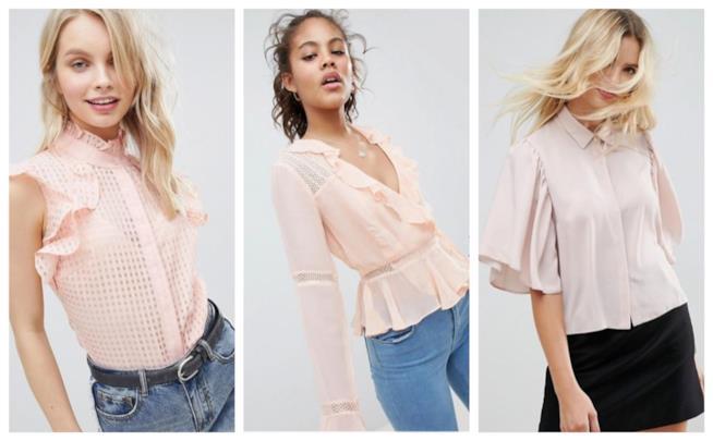 Le camicie e bluse in rosa
