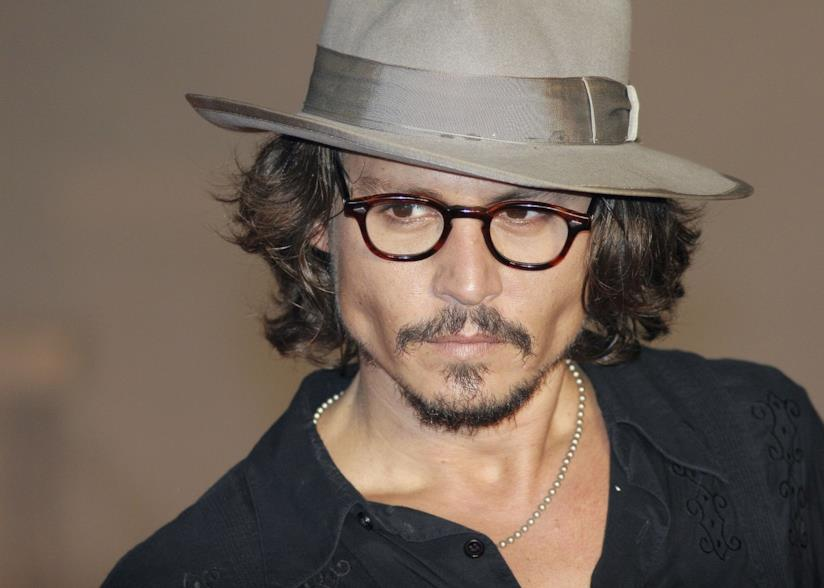 Johnny Depp in primo piano