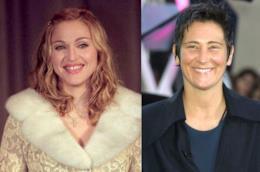 le cantanti Madonna e k. d.lang