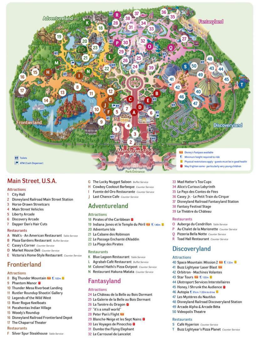 La mappa di Disneyland Paris da scaricare o stampare