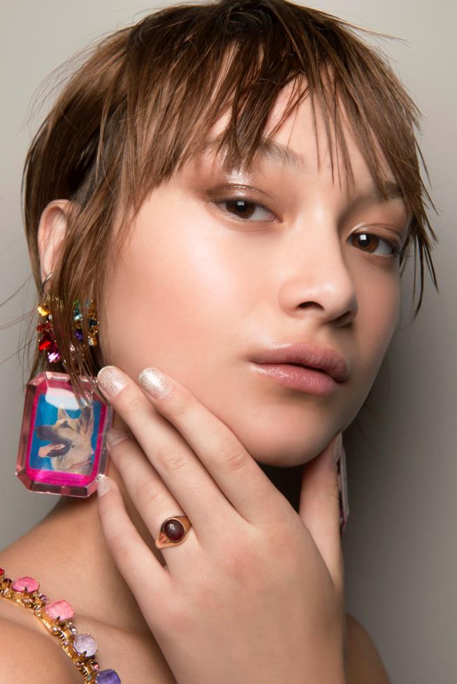 Nail art french glitter sfumato