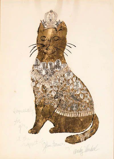 Sam, il gatto di Andy Warhol, in foglia d'oro