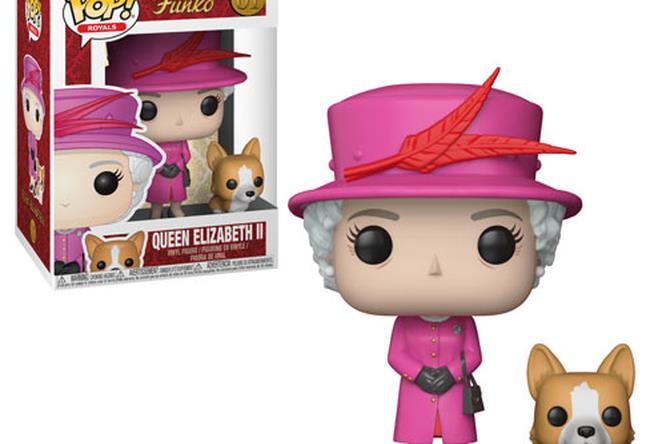 la regina Elisabetta in versione Funko Pop