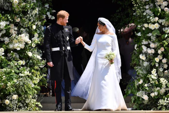 Meghan Markle e Harry il giorno delle nozze