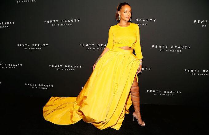 Rihanna al lancio di Fenty Beauty
