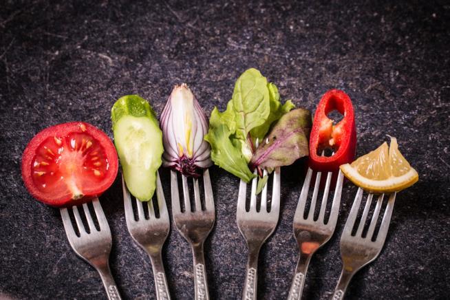 Forchette con delle verdure