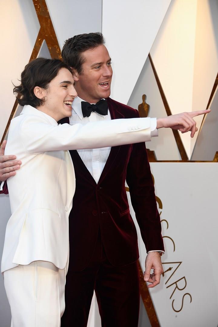 Timothée Chalamet e Armie Hammer agli Oscar