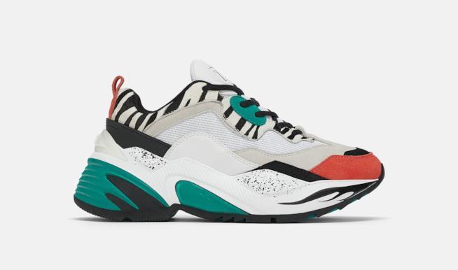 Sneakers Zara con Maxi suola