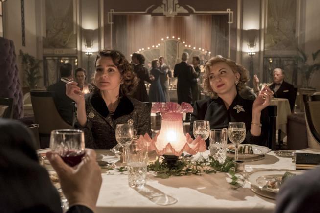 Shirley Henderson e Nina Arianda sono Lucille Hardy e Ida Laurel nel film Stanlio & Ollio