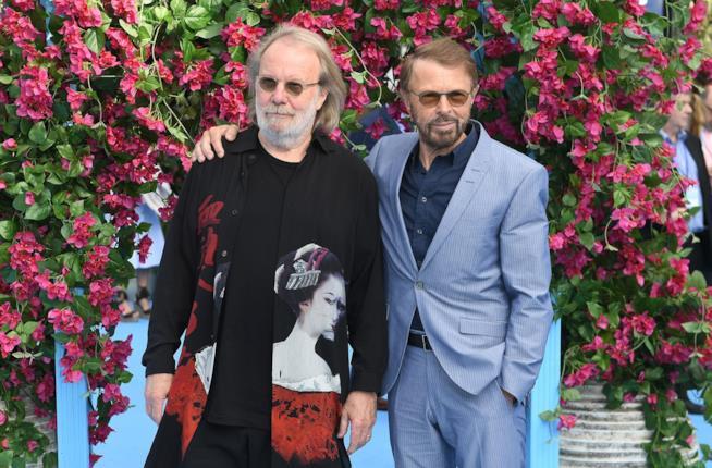 Björn Ulvaeus e Benny Andersson alla premiere di Mamma Mia: Here We Go Again