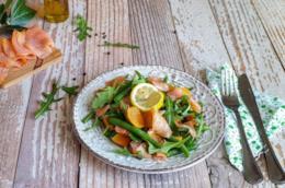 Piatto con pesce e verdura