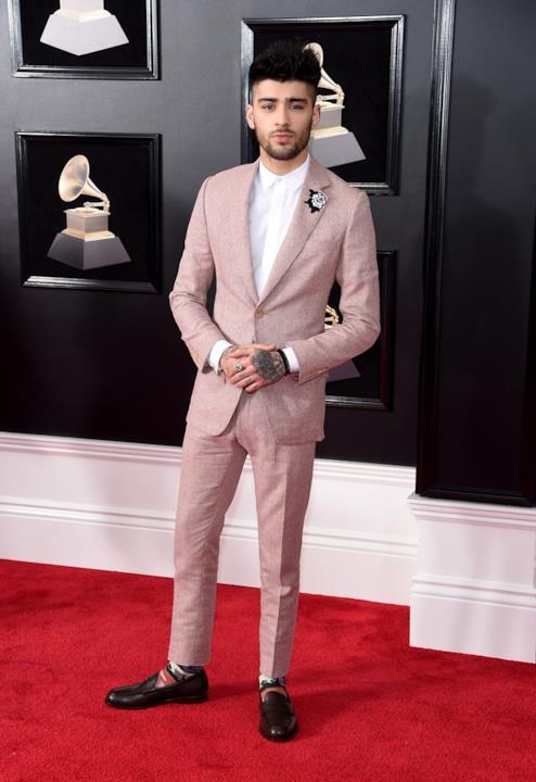 Zayn Malik sul red carpet dei Grammy 2018