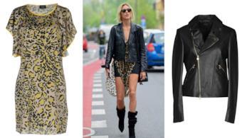 I vestiti dalla fantasia leopardata come quello di Anja Rubik