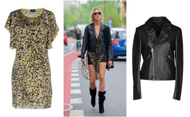 I vestiti dalla fantasia leopardata come quello di Anja Rubik 4aea7adabb0