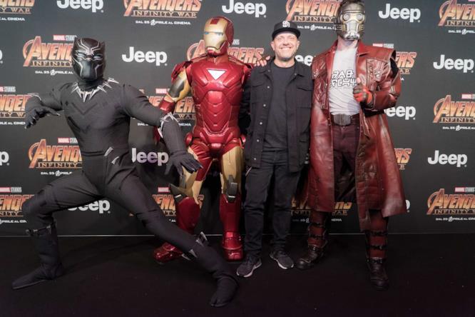 Max Pezzali alla première di Infinity War
