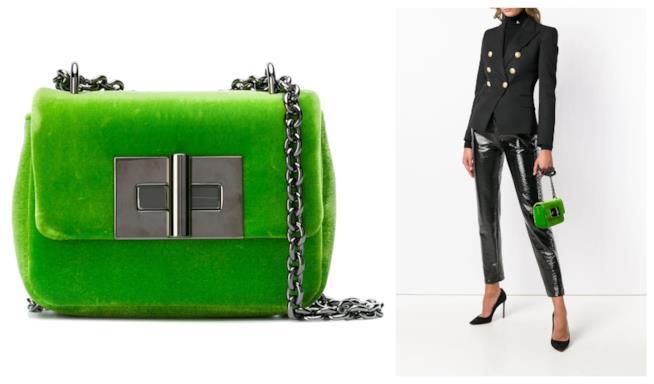 Verde fluo, la borsa a tracolla di Tom Ford