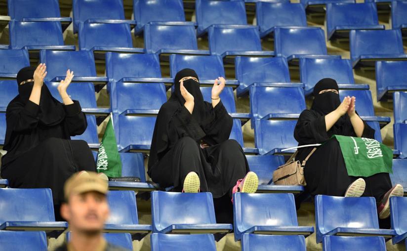 Donne saudite allo stadio