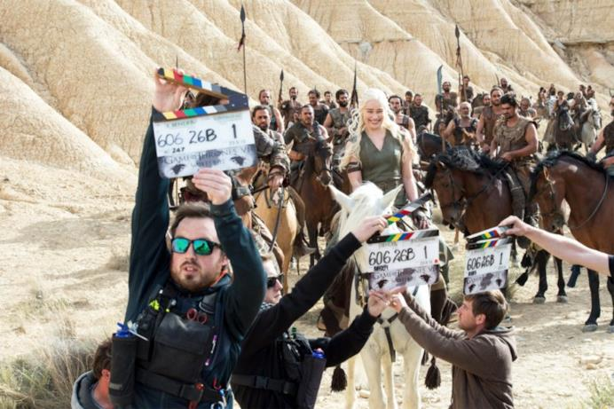 Daenerys Targaryen in una foto dal set