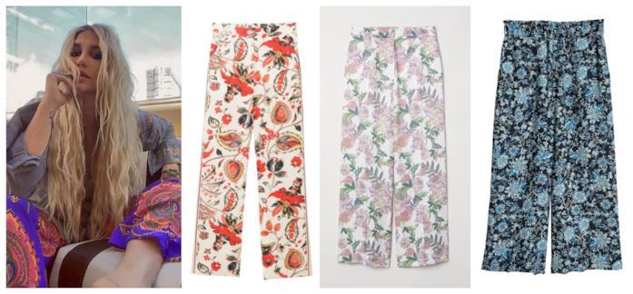 Stampa paisley per i pantaloni di tendenza P/E 2018