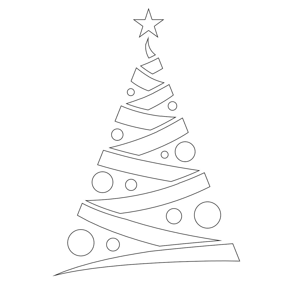 Immagini Di Alberi Di Natale Da Stampare Disegni Di Natale 2019