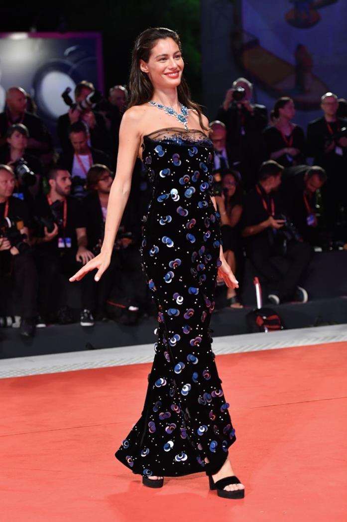 Marica Pellegrinelli sul red carpet di Venezia 76