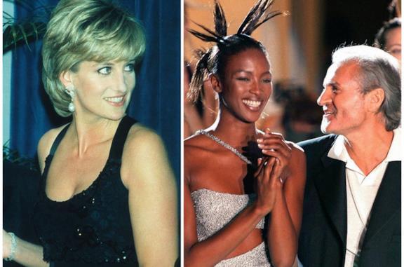 Lady Diana e Gianni Versace