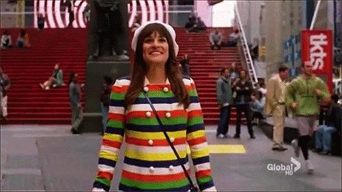 Lea Michele nei panni di Rachel Berry in Glee