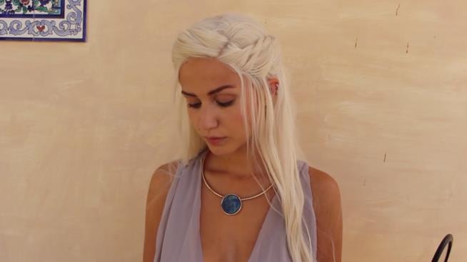 Lunghi capelli biondi Daenerys