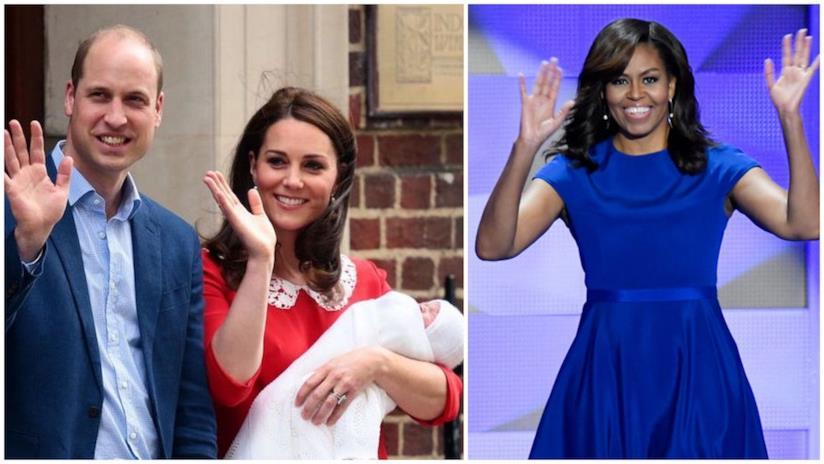 Michelle Obama, Kate e William