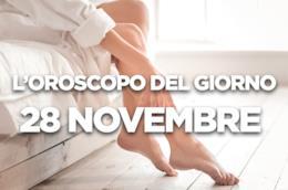 L'oroscopo del giorno di Mercoledì 28 Novembre