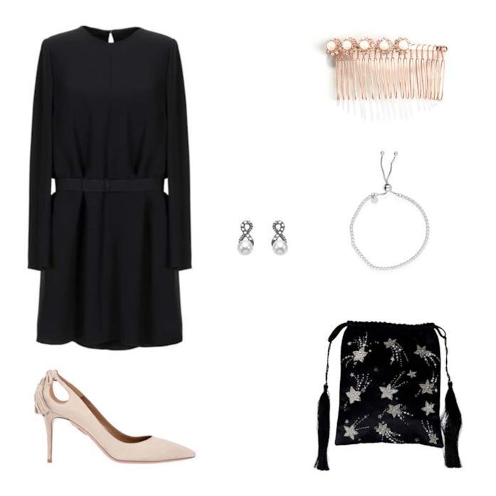 Look per un concerto di musica classica con decollete e little black dress