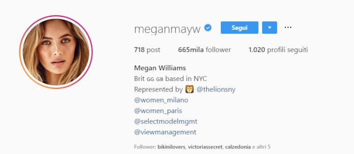 Profilo Megan Williams