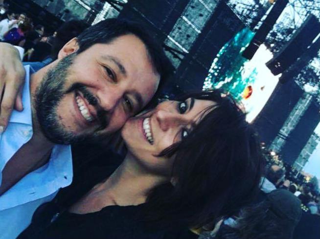Matteo Salvini ed Elisa Isoardi su Instagram
