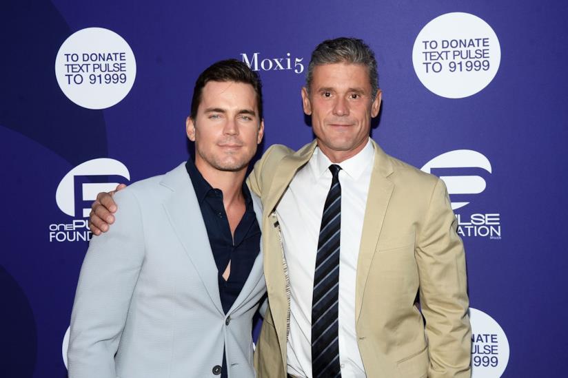 Matt Bomer con il marito Simon Halls