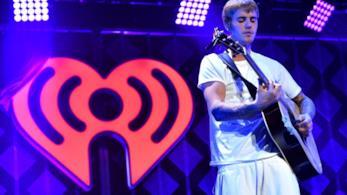 Justin Bieber durante una delle sue esibizioni live
