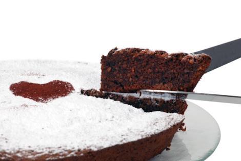 Caprese con cioccolato e mandorle