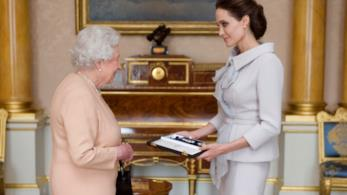 Angelina Jolie e la Regina Elisabetta