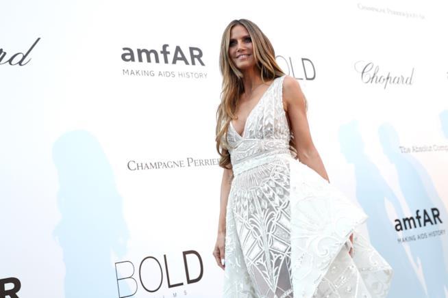 Heidi Klum all'Amfar Gala