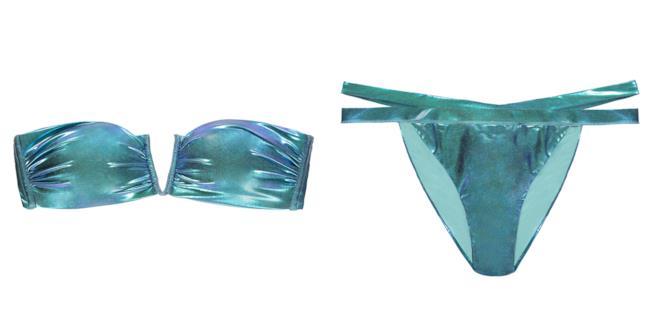 Il Bikini metallizzato della collezione Tezenis 2018