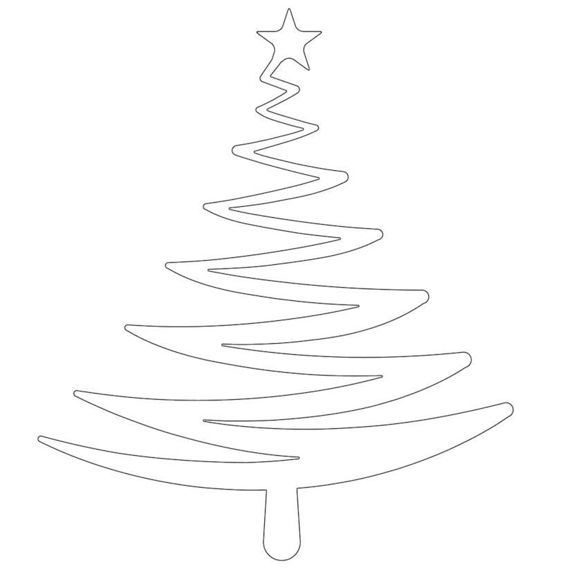 Albero di Natale outline per stampa