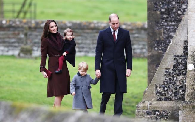 Kate, William e i due principini il giorno di Natale