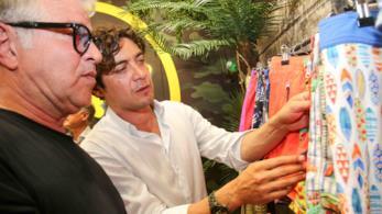 Riccardo Scamarcio allo stand F**K a Pitti Uomo