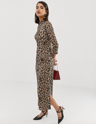Midi dress leopardato